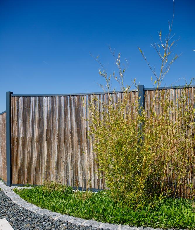 Bambus-Sichtschutzwand von Projekt Garten